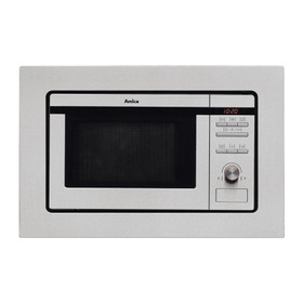 Amica AMM20G1BI 20L 800W Stainless Steel Integrated Microwave Oven And Grill