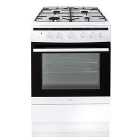 Amica 608GG5MSW 60cm White Free Standing Single Gas Cooker With 4 Burner Hob