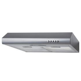 SIA STE50SI 50cm Silver Slimline Visor Cooker Hood Kitchen Extractor Fan