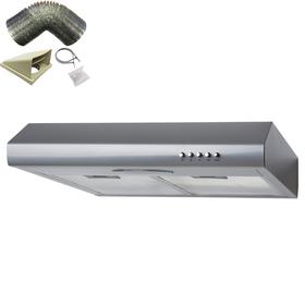 SIA STE50SI 50cm Silver Slimline Visor Cooker Hood Extractor Fan & 3m Ducting