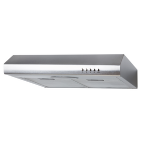 SIA STE50SS 50cm Stainless Steel Standard Visor Cooker Hood Kitchen Extractor