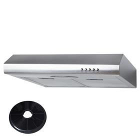 SIA STE50SS 50cm Stainless Steel Slimline Visor Cooker Hood Extractor & Filter