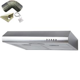 SIA STE50SS 50cm Stainless Steel Slimline Visor Cooker Hood Fan & 1m Ducting