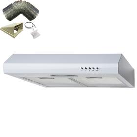 SIA STE50WH 50cm White Slimline Visor Cooker Hood Extractor Fan & 1m Ducting