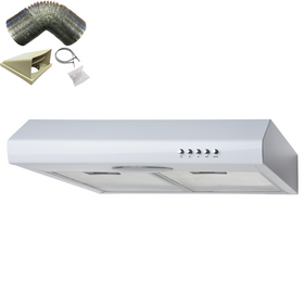 SIA STE50WH 50cm White Slimline Visor Cooker Hood Extractor Fan & 3m Ducting