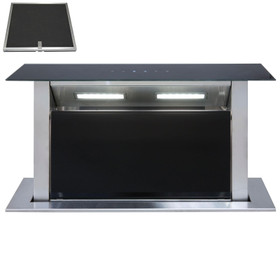 SIA DD60BL 60cm Black Touch Control Downdraft Cooker Hood Extractor Fan & Filter