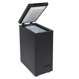 SIA Black 36cm Compact Chest Freezer For Caravans, Mobile Home, Camper van, Boat