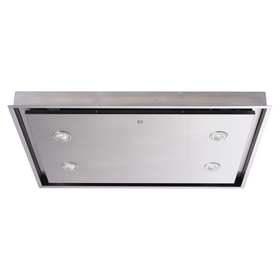 SIA CLN90SS 90cm Stainless Steel Ceiling Cooker Hood Extractor Fan With Remote