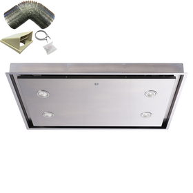 SIA CLN90SS 90cm Stainless Steel Ceiling Cooker Hood Extractor Fan & 1m Ducting
