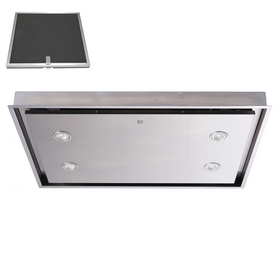SIA CLN90SS 90cm Stainless Steel Ceiling Cooker Hood Extractor Fan & Filter