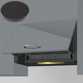 SIA INT60BL 60cm Black Integrated Built In Cooker Hood Kitchen Fan & Filter