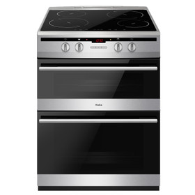 Amica AFN6550SS 60cm Freestanding Double Electric Oven Cooker With Induction Hob