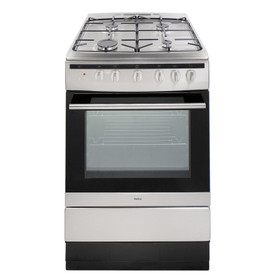 Amica 608GG5MSXX 60cm Stainless Steel Free Standing Single Gas Oven With Hob