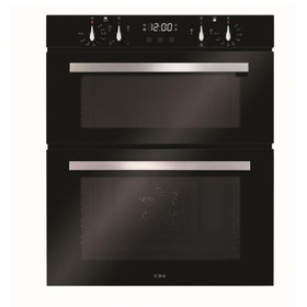 CDA DC741BL 60cm Black Built Under Double Electric Fan Oven With Digital Timer