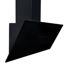 SIA TAG90BL 90cm Black Angled Touch Control Cooker Hood Kitchen Extractor Fan