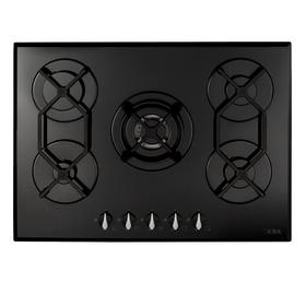 CDA HVG721BL 70cm Black Designer 5 Burner Gas on Glass Hob With FFD & LPG Kit