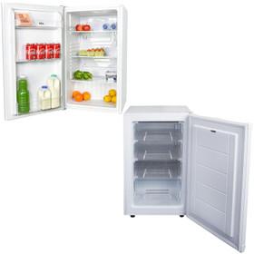 SIA Freestanding White Under Counter Larder Fridge & Freezer | A+ Energy Rating