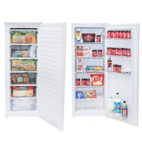 SIA White Freestanding 606L Tall Larder Fridge & Freezer, 55x143cm, A+ Rated