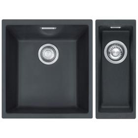 Franke Sirius 1.5 Bowl Black Tectonite Undermount Kitchen Sink Pack L/R Handed