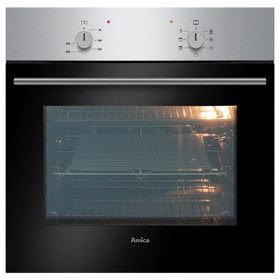 Amica ASC200SS Stainless Steel 60cm 5 Function 62L Single Electric Fan Oven