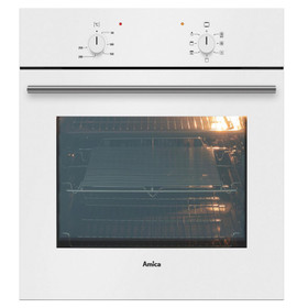 Amica ASC200WH White 60cm Built-in 5 Function 62L Single Electric True Fan Oven