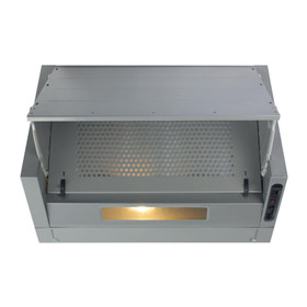 Matrix MIN600SI 60cm Silver Integrated Built In Cooker Hood Kitchen Extractor