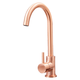 SIA KT6CU Copper Swan Neck Single Lever Contemporary Monobloc Kitchen Mixer Tap