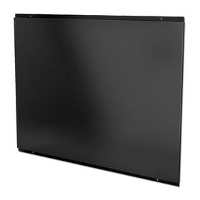CDA CSB10BL 100cm x 75cm Black Square Metal Kitchen Splashback