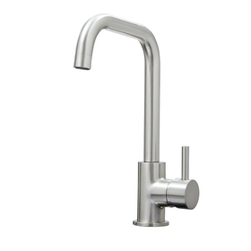 SIA KT6BND Brushed Nickel U-Shaped Single Lever Monobloc Kitchen Sink Mixer Tap