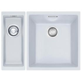 Franke Sirius 1.5 Bowl White Tectonite Undermount Kitchen Sink Pack L/R Handed