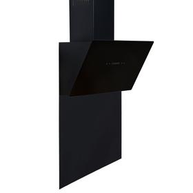SIA 60cm Black Angled Touch Control Cooker Hood & Toughened Glass Splashback