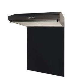 SIA VSR60BL 60cm Black Slim Visor Cooker Hood & Toughened Glass Splashback