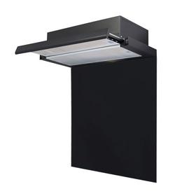 SIA 60cm Black Telescopic Integrated Cooker Hood & Toughened Glass Splashback