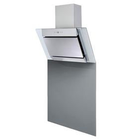 SIA 60cm Angled Stainless Steel Chimney Cooker Hood & Toughened Glass Splashback