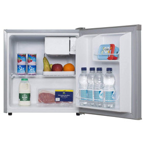 SIA TT01SV 49L Mini Fridge With Ice Box In Silver, Beer & Drinks Cooler