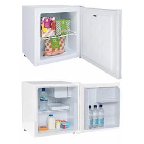 SIA Table Top Mini Beer, Drinks Fridge And Freezer Pack In White  A+ Rated
