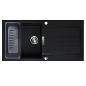 Franke Sirius 1.0 Bowl Black Composite Reversible Kitchen Sink & Colander Basket