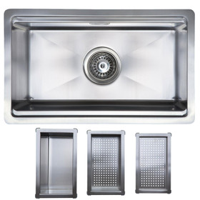 SIA Stainless Steel Companion Sink With Free Accessories 1.0 Bowl - COMP10SS
