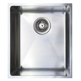 SIA Undermount/Inset Stainless Steel Kitchen Sink W370xD430 1.0 Bowl - OM10SS