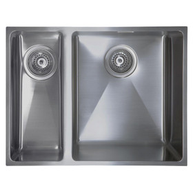 SIA Undermount/Inset LHD Stainless Steel Kitchen Sink 1.5 Bowl - ON15LHSS