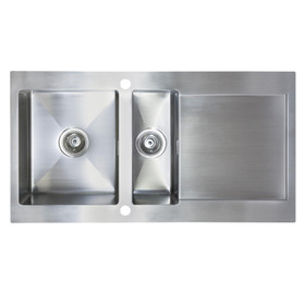 SIA VE15SS 1.5 Bowl Premium Brushed Stainless Steel Reversible Kitchen Sink