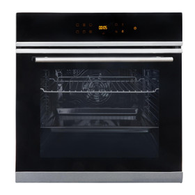 SIA BISO6SS 10 Function Touch Control 76L Single Electric Oven With LED Display