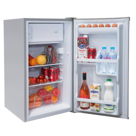 SIA LFISI 48cm Silver Free Standing Under Counter Fridge With 3* Ice Box A+