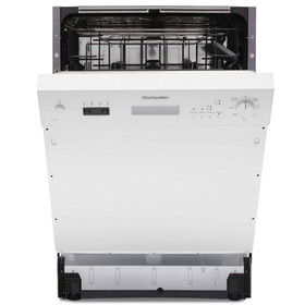 Montpellier MDI655W 60cm Semi Integrated Dishwasher With 12 Place Settings