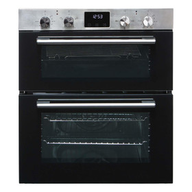 SIA DO111SS 60cm Stainless Steel Built Under Electric Double True Fan Oven
