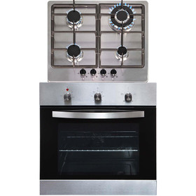SIA SO113SS 60cm Stainless Steel Electric Single Fan Oven & 4 Burner Gas Hob