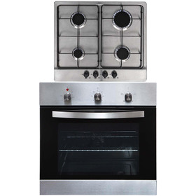 SIA SO113SS 60cm Stainless Steel Electric Single Fan Oven & 4 Gas Burner Hob
