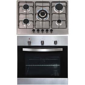 SIA SO113SS 60cm Stainless Steel Single Fan Oven & 70cm 5 Gas Burner Hob