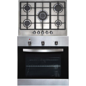SIA SO113SS 60cm Stainless Steel Single Fan Oven & 70cm R6 5 Burner Gas Hob