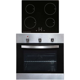 SIA SO113SS 60cm Stainless Steel Single Fan Oven & 13A 4 Zone Induction Hob